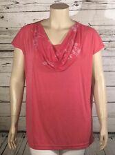 Carolyn Strauss NWT 2X Pink Blouse Top w/ Printed Drape Scarf