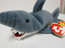 Ty Beanie Baby Crunch, SHARK Brand New-Mint BOTH  PVC & P.E./ 4th & 5th TAGS!