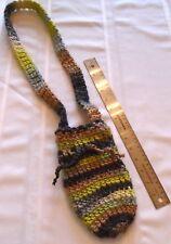 "Handmade Crochet Knit Mobile / Cell Phone Pouch - Festival / Club Bag 5"" x 8"""