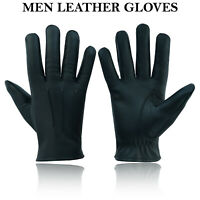 100% Goat Skin Leather Gloves Police Military Forces Uniform Chauffeur Goatskin