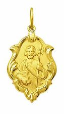 18k Gold St Jude Medal Small, 0.9 grams - Perfect Image
