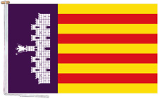 More details for mallorca spain flag with rope and toggle - various sizes