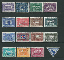 ICELAND 1930 PARLIAMENT MILLENARY (Sc 152-66 C1) VF USED SCARCE