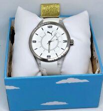 Puma Time Fusion Quartz Analog Slim Watch PU911002001 White / Silver