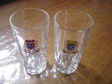 Lot de 2 verres PASTIS DUVAL LIQUEUR Manosque Arles VINTAGE ancien