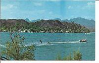 (G) Vintage Boat & 2 Water Skeers On The Colorado River