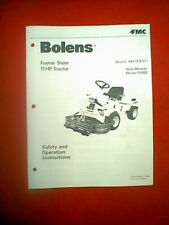 BOLENS FRAME STEER 11 HP TRACTOR MODEL 940 FS 11 WITH MOWER 15550 OWNER'S MANUAL
