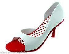 Melissa Grendene Spice Red & White Brazilian Women's Shoes Size 7