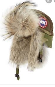 New Canada Goose Aviator Fur Hat Camo
