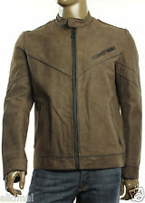 New Mens HUGO by HUGO BOSS Lenson Slim Fit Buffalo Leather Moto Jacket XL