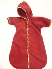Fleece Bunting Infant Polar Baby One Piece Red Hooded Hoodie Winter Outdoor Warm