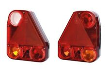 SET OF 2 x  REAR TAIL LAMPS TRIANGLE REFLEX REFLECTOR TRUCK TRAILER BUS CAMPER