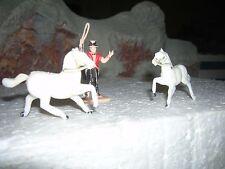 VINTAGE CIRCUS FIGURES HORSE TRAINER HORSES BRITAINS COPIES HK
