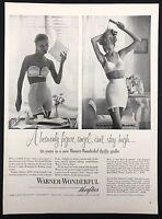 1952 Vintage Print Ad 1950s WARNER Woman's Bra Girdle Underwear