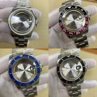 40mm Stainless Steel Watch Case for ETA 2836 Movement with Wristband Strap Bezel
