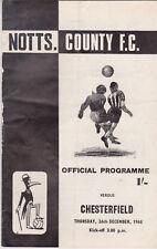 Programma / Programme Notts County FC v Chesterfield 26-12-1968