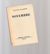 gustave flaubert - novembre - serie bur rizzoli