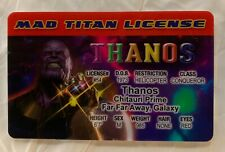Thanos Mad Titan License Novelty ID cosplay Avengers Iron Man Captain America