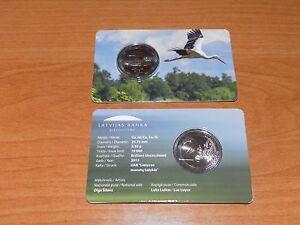 Latvia 2 euro BU coincard 2015 (Stork)