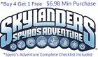 *Skylanders Spyros Adventure Complete UR Set W ✓List *Buy 4 = 1 Free*$6.98 Min👾 For Sale