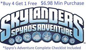 Skylanders Spyros Adventure Complete UR Set w ✓List Wii PS4 Xbox One $6.98 Min👾