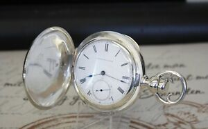 Rare E.Howard & Co Taschenuhr massiv Silber pocket watch COIN SILVER C1857