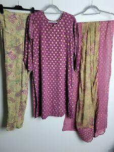 *Marks* Ladies Readymade Salwar Kameez Suit Asian Size Large 16 Traditional