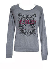 BRAND NEW HURLEY WOMENS RAGLAN GRAPHIC T SHIRT TOP RELAXED FIT CREW TEE BLOUSE L