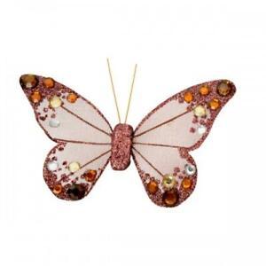 Clip-on Butterflies Decorative Glitter Jewelled  Butterfly Large Wedding Hair
