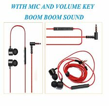 HK5 Earphone Handsfree Headset with Mic Volume Key For Micromax Canvas A82,Hue