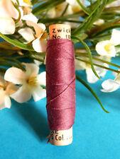 "597B / Ravishing Old Coil Wire Silk Zwicky "" Burgundy "" N° ?"