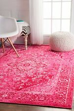 nuloom persian overdyed vintage traditional distressed area rug in pink