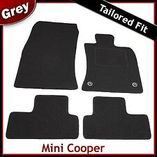 Mini Cooper / S Tailored Fitted Carpet Car Mats GREY 2 Clip (2006 2007 2008 ..)
