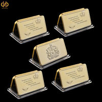 5PC 1953 UK Gold Bullion Bars Queen Elizabeth II's Coronation Crown Diamond Coin