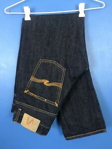 Nudie Jeans Grim Tim Dry Organic Denim Selvedge jeans Navy 33 x 30