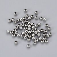100 Pcs 304 Stainless Steel Round Spacer Beads for DIY Making, 3x3mm, Hole: 1mm