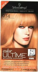 1 Box Schwarzkopf Color Ultime 9.14 Icy Copper Vibrant Color Permanent Hair Dye