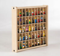 LEGO Minifigure Display Case - Figure Wall Storage and 50 Figure Bases Included!