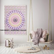 Indian Bohemian Tapestry Wall Hanging Peacock Mandala Throw Hippie Yoga Mat Rug