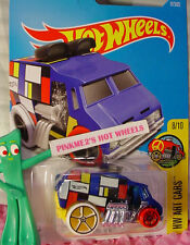 2017 Hot Wheels COOL ONE #17✰blue/yellow;oh5 white/red; H✰Art CArs✰US Case B