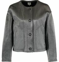 Armani Collezioni women's oversized platinum jacket - made in Italy