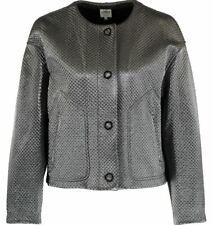 Armani Collezioni women's oversized platinum jacket - made in Italy