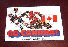 Scotia Bank GO CANADA !  Canada - U.S.S.R. post card 1972