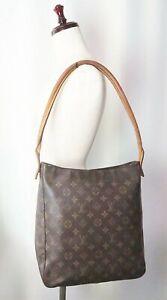 Authentic LOUIS VUITTON Looping GM Monogram Shoulder Tote Bag Purse #39076