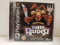 Looney Tunes Sheep Raider Playstation 1 PS1 PSOne Black Label Game Complete!
