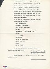 Chuck Norris Signed Contract Autograph Auto PSA/DNA AD70739