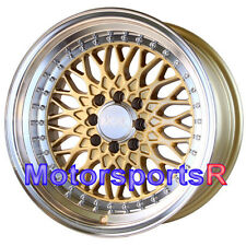 XXR 536 Gold 15x8 0 Deep Lip Wheels Rims 4x114.3 85 Toyota Celica Supra GTS 5MGE