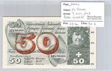 BILLET SUISSE - 50 FRANCS - 7 MARS 1973 - BELLE QUALITÉ !!!
