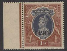 INDIA-CHAMBA SG102 1942 1r GREY & RED-BROWN MNH