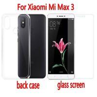 For Xiaomi Mi Max 3 Full Coverage 9H Tempered Glass Screen Protector Guard Case